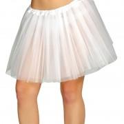 Merkloos Petticoat/tutu verkleed rokje wit 40 cm voor dames