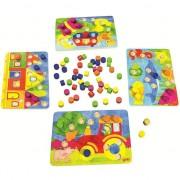 Joc educativ Lumea culorilor cu 4 planse de lucru,din lemn, multiplayer