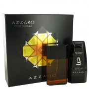 Azzaro Eau De Toilette Spray 3.4 oz / 100.55 mL + Hair & Body Shampoo 5 oz / 147.87 mL Gift Set Men's Fragrances 537004