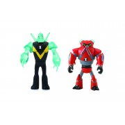 BEN 10 - Set 2 mini figurine Cap de Diamant si Overflow - 5 cm