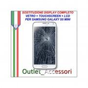 Cambio Sostituzione Display Rotto Samsung Galaxy S5 Mini G800 Schermo Vetro Touch Lcd Assemblaggio