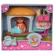 Детски комплект с Кукла Еви Лав - Щанд за Хамбургери, 043127