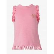 TOM TAILOR Top met ruches en franjes, Kinderen, sachet pink rose, 80