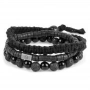 Lucleon Set de bracelets black on black