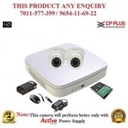 Cp Plus 1 MP Full HD 4CH DVR + Cp plus 1 MP HD Dome IR CCTV Camera 2Pcs + 1TB HDD + BNC + DC + POWER SUPLAY CCTV COMBO