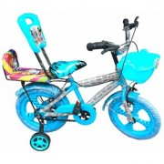 Oh Baby Baby 35.56 Cm (14) double seat bicycle with blue color for your kids SAC-JAN SE-BC-08