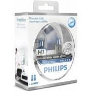 Set 2 becuri Philips H1 12V 55W P14.5s White Vision