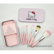 Hello Kitty Imported Set of 7 Pink Professional Makeup Brushes Set Very Soft