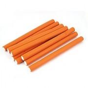 Noctronique 10Pcs Curler Makers Soft Foam Diy Styling Hair Rollers Orange
