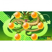 shernron with 7 balls sticker poster|dragon ball z poster|anime poster|size:12x18 inch|multicolor
