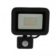 Proiector LED cu senzor Well, 20 W, 1600 lm, IP44, 4000 K, Negru