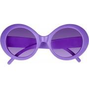 Boland Party-zonnebril Ronde Glazen Unisex Kunststof Paars