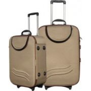 KAAZZ SUPER_COMBO_24 & 28 INCHS Check-in Luggage - 28 inch(Brown)
