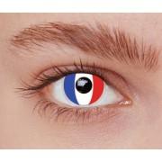 Vegaoo Kontaktlinser fantasi Frankrike vuxen One-size