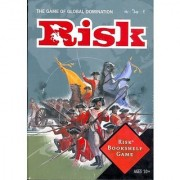 RISK- THE GAME OF GLOBAL DOMINATION (BOOK-SHELF EDITION) FOR OVER 40 YEARS (DESIGNED IN A COLOR BOOK-SHAPED BOX THAT SITS SPINE OUT ON MOST BOOK SHELVES- 2-6 PLAYERS (9 YRS.-UP)