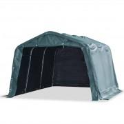 vidaXL sötétzöld elmozdítható PVC állattartó sátor 550 g/m² 3,3 x 4,8 m