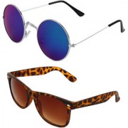 Zyaden Combo of Round And Wayfarer Sunglasses (Combo-116)