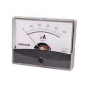 Instrumento Panel Amperimetro Analogico 60x47mm 50µa Cc