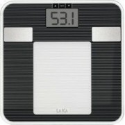 Cantar electronic Laica PS5008 150 kg Diviziune 100g Calcul Tesut adipos Apa Musculatura scheletica Metabolismul bazal Negru