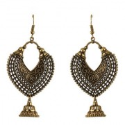 Silver Shine unique Shape Oxidised Designer Party wear Fancy Dangler Earring for Girls and Women Jewellery