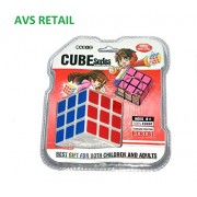 AVS RETAIL Magic Series 3 X 3 Rubik's Cube with Free Cube Key Chain Turns Quicker and More Precisely Than Original; Super-durable With Vivid Colors; Best-selling 3x3 Cube; Easy Turning and Smooth Play