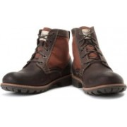 Clarks Midford Drill Boots For Men(Brown, Tan)