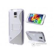 Husă din plastic Gigapack pentru Samsung Galaxy S V. (SM-G900), transparent-gri (conform producătorului)