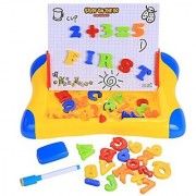 Arshiner Tabletop Learning Easel Educational Drawing Board with Magnetic Numbers and Letters
