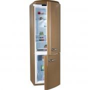 Combina frigorifica Gorenje Retro ONRK193CO, No Frost, A+++, 307 l, Afisaj, Inverter, H 194 cm, Royal Coffee