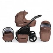 KUNERT rotax kolica za bebe - crni ram, set 3u1