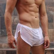 McKillop Run Sheer Shorts White CRME-WH2