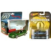 007 Jaguar XKR & Hot Wheels Aston Martin DB5 Goldfinger James Bond Car SET