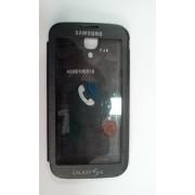 Flip Case за Samsung I9500 Galaxy S4 с цял прозорец Черен