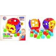 Ratna'S Educational Shape Sorter Ball With Shapes All Around The Detachable Ball For Kids Ages 1+, Non Toxic