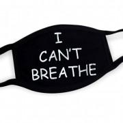 Čierne rúška s potlačou bavlnené - I CAN´T BREATHE