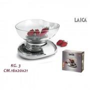 Laica bilancia cucina cromo 3 kg blc7107