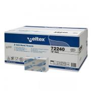 Rezerva prosoape pliate Z, Celtex, 72240, 2 straturi, alb, 150 buc/pachet, 25 pachete/cutie