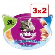 Whiskas Snacks 3 x 48 / 66 / 72 g en oferta: 2 + 1 ¡gratis! - Temptations - Salmón (3 x 72 g)