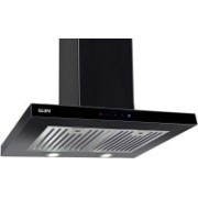 GLEN Electric Kitchen Black Colour Chimney 6056 SX TS Black 60 cm 1000 m3h Wall Mounted Chimney(BLACK 1000 CMH)