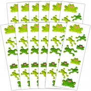 Frog Stickers Party Supplies Pack -- Over 120 Frogs Stickers (12 Party Favor Sheets)