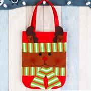 Cena De Navidad Decoracion De Mesa Santa Gift Bag, Moose Patrón Tela No Tejida Regalos Pequeños Bolsos