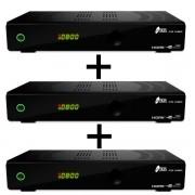 Pack 3 unidades receptores Satélite + TDT Iris modelo 9700HD Combo.