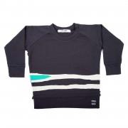 Bluza Stripes - negru, 8-10 ani