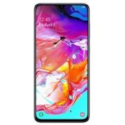 "Telefon Mobil Samsung Galaxy A70, Procesor Snapdragon 675, Super AMOLED touchscreen 6.7"", 6GB RAM, 128GB Flash, Camera Tripla 5+8+32MP, 4G, Wi-Fi, Dual SIM, Android (Alb) + Cartela SIM Orange PrePay, 6 euro credit, 6 GB internet 4G, 2,000 minute nationale"