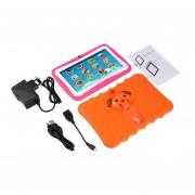 7 Pulgadas Quad Core Niños Aprendiendo Tablet PC 1GB RAM +8GB ROM Para Android 4.4 Naranja