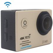 HAMTOD HF60 UHD 4K WiFi 16.0MP Cámara deportiva estuche impermeable