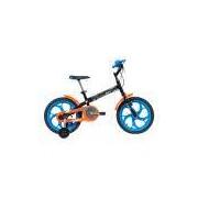 Bicicleta Infantil Aro 16 Caloi Hot Wheels Preta