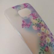 Калъф за Samsung S6 Edge G925 силиконов гръб цветя