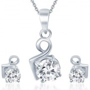 Sukkhi Gold Plated Cubic Zirconia (Cz) White Pendants Chains For Women