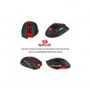 Redragon M690 4800DPI Wireless Gaming Mouse For Pro Gamers, 500Hz Return Rate, 6 Adjustable DPI, And 4 Backlight Modes Gaming Mice With 7 Programmable Buttons